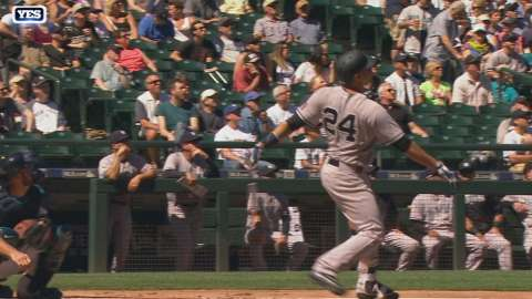 Video: Sanchez launches solo homer