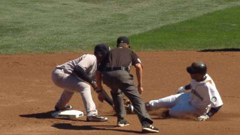 Video: Judge throws out Cano at second