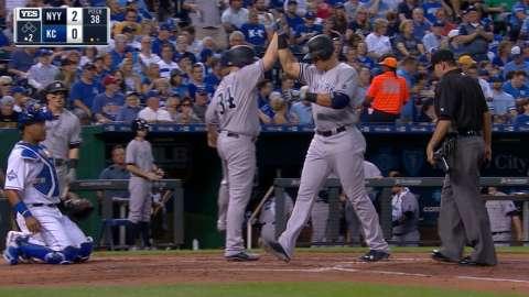 Video: Judge hits two-run homer