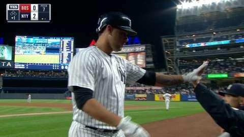 Video: Sanchez belts his 20th homer
