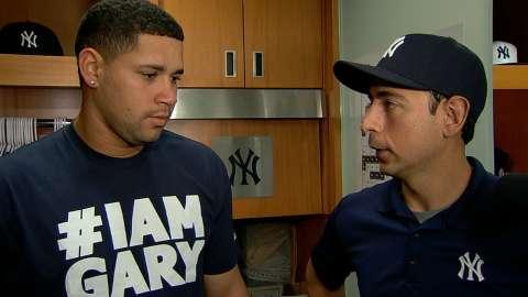 Video: Sanchez on homer, historic start
