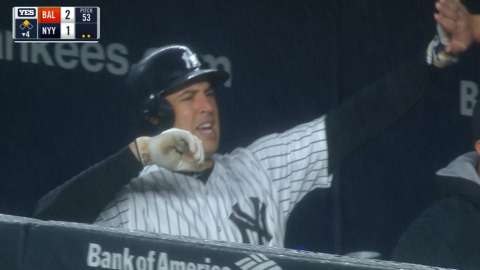 Video: Teixeira's sac-fly in the fourth