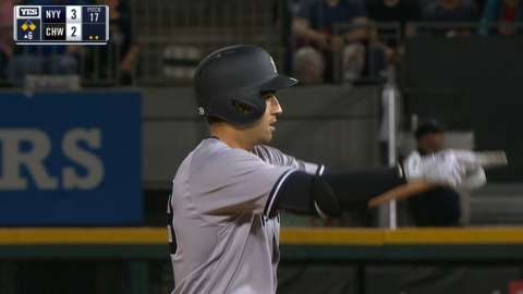 Video: Wade doubles for first hit