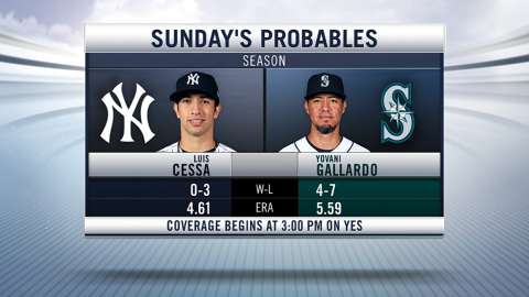 Video: Sunday's probables in Seattle