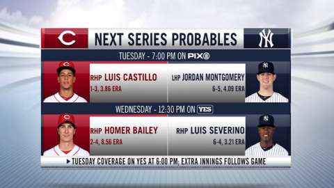 Video: Probable pitchers vs. Reds