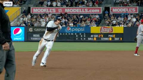 Video: Romine rips a RBI double