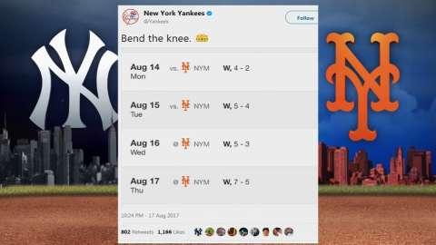 Video: The Yankees' Twitter hijinks