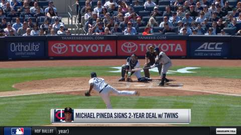 Video: Pineda signs with the Twins