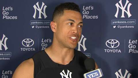 Video: Stanton on debut in pinstripes
