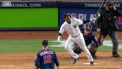 Video: Andujar ropes solo shot to left