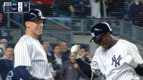 Video: Gregorius goes deep vs. Twins