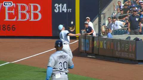 Video: Walker makes a nice grab