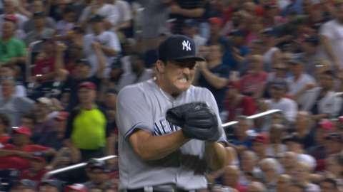 Video: Holder escapes jam against Nats