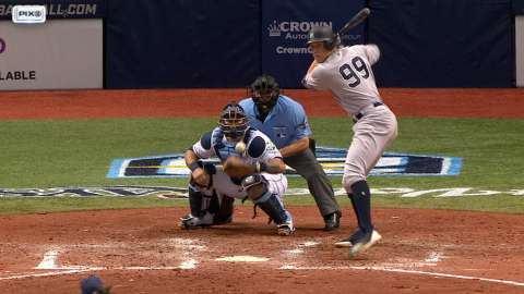 Video: Judge lifts RBI single to right