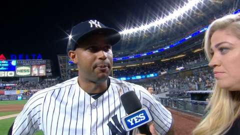 Video: Hicks talks homer, timely hits