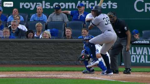 Video: Maybin's two-run double to left