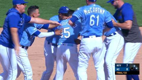 Video: Merrifield's walk-off single