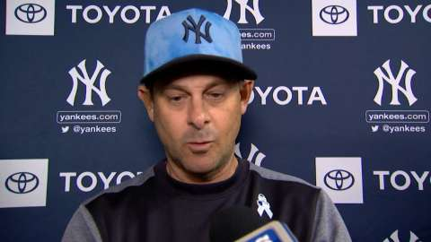 Video: Boone talks Yanks' big win in Chicago